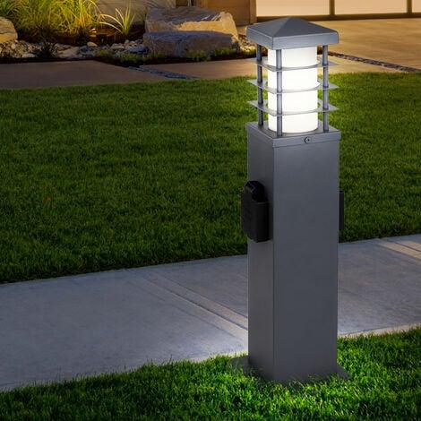 Enchufes exteriores de la lámpara distribuidor de energía columna de electricidad lámpara de acero inoxidable en un conjunto con iluminación LED