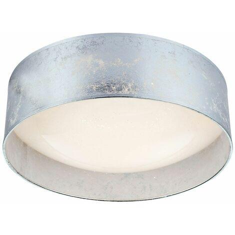Luz de techo LED sala de trabajo estrellas cielo tela sombra lámpara plata  Globo 15188D7