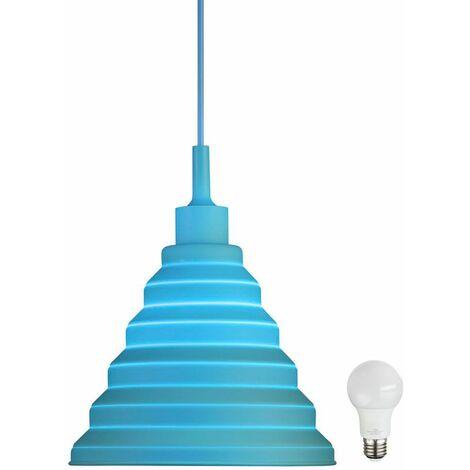 cocina lámpara colgante iluminación de techo de la lámpara azul en el sistema incluyendo lámparas LED que cuelga