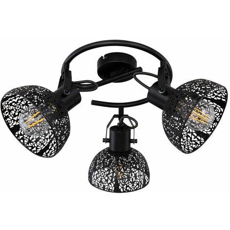 Lámpara de techo retro movible MANDO A DISTANCIA Foco regulable en un conjunto con iluminación LED RGB