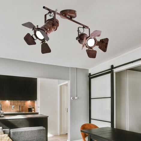 Lámpara de techo retro para sala de estar, proyector de resplandor, foco ajustable en un conjunto que incluye un iluminante LED