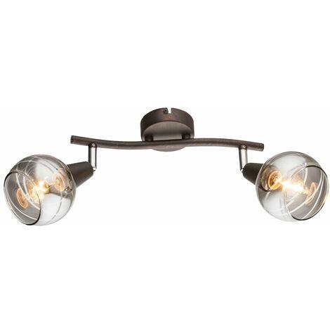 Lámpara de techo LED Foco de salón Foco de cristal Foco de cristal CONTROL REMOTO en un juego que incluye bombillas LED RGB