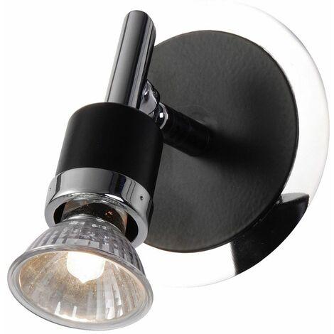 Foco de pared lámpara de cromo negro salón iluminación spot ajustable  Globo 57600-1