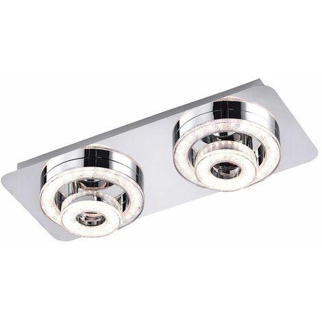 Focos de techo LED cromo salón comedor iluminación cristal diseño puntos giratorios LeuchtenDirekt 14521  -17