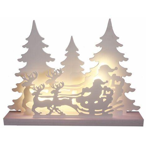 Lámpara de pie de mesa decorativa LED Iluminación navideña X-MAS Lámpara de bosque de invierno Alféizar de la ventana  Harms 920111