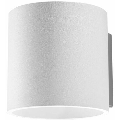 Aplique Up Down aplique interior Aplique Up Down blanco, efecto de luz aluminio redondo, 1x G9, DxH 10x12 cm, comedor