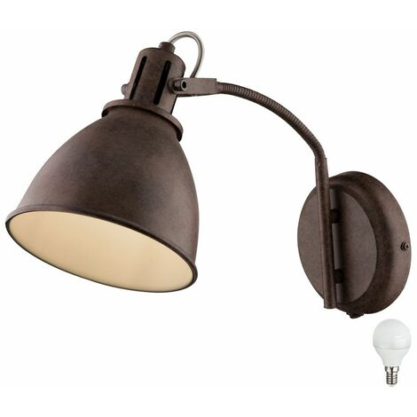 Lámpara de pared de estilo country lámpara de color óxido lámpara flexo spot focos conjunto de iluminación que incluye bombillas LED