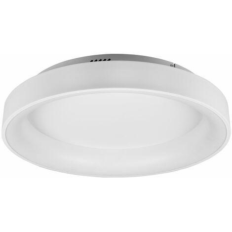 Plafón de techo LED con mando a distancia Plafón de techo de 60 cm Plafón de techo LED redondo regulable salón, CCT stepless, en blanco, 1x LED 48W 5600Lm 2700  -6000K