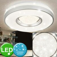 Lámpara techo LED pasillo iluminación cocina redonda plata blanca lámpara foco de luz Globo 41741-24