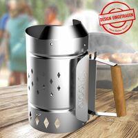 Kindling Fireplace XL Steel Galvanized Coal Briqueta de encendido rápido Accesorios para parrillas más ligeras  Tepro 8331