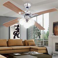 Lámpara de techo LED lámpara de luz radiador sala  iluminación ventilador CLIMA