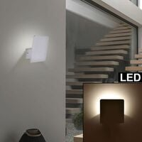 Conjunto de diseño de 2 apliques LED baño espejo sala de trabajo ALU lámparas gris