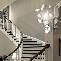 Lámpara de pared LED lámpara de pared lámpara de lectura iluminación de pasillo cromo  Globo Vida 63160-1W + LED