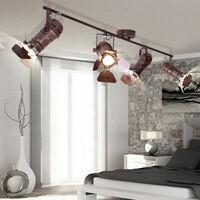 Lámpara de techo vintage pasillo pasillo rejilla manchas de color ajustables en un conjunto que incluye iluminante LED