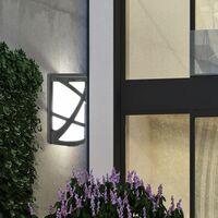 Conjunto de 2 luces LED exteriores fachadas lámparas de pared de la casa terrazas proyectores ALU iluminación del jardín