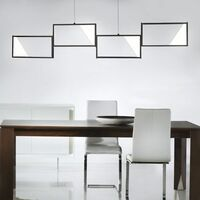 Lámpara colgante de techo LED DIMMABLE salón comedor iluminación colgante antracita trio 323210442