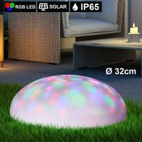 Lámpara solar LED RGB que flota en el suelo senderos de decoración de piscinas foco lámpara de enchufe de iluminación de agua al aire libre  Globo 33665