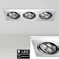 Foco de luz LED empotrable ALU foco ajustable para sala de estar iluminación de diseño lámpara de techo  Globo 12311-3