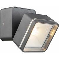 Aplique LED focos orientables Aplique LED exterior exterior antracita, aluminio, 6W 525lm 3000K, An x P 9 x 14,1 cm