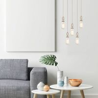 Lámpara colgante diseño péndulo iluminación dormitorio lámpara de techo redonda  Globo A20-5H