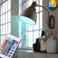 Foco Spot Spotlight de color morado con luz de pared Conjunto de control remoto que incluye bombillas LED RGB