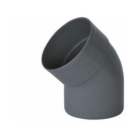 Codo evacuación M-H Ø 75 45º PVC gris