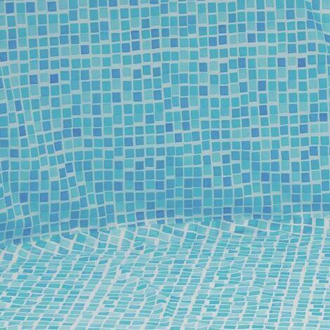 Pool Folie rund ø 5,50m x 1,20m Folie 0,3mm Überlappung mosaik Pool Poolfolie Rundpool / 550 x 120 cm Stahlwandpool Innenhülle Liner Auskleidung Rundbecken