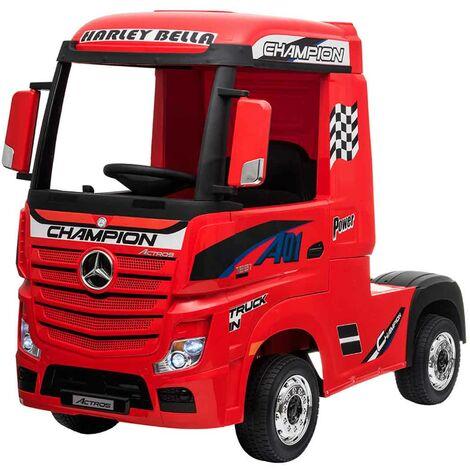 Cami�n El�ctrico Mercedes Actros Rojo para ni�os