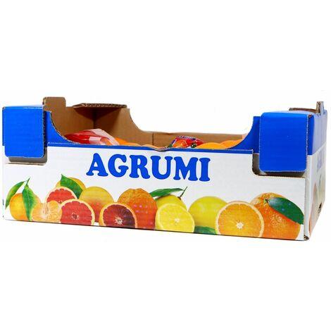 Cassetta in cartone plaform stampa agrumi multiuso ortofrutta per agricoltura *** dimensioni 30x40x14 cm - confezione 12