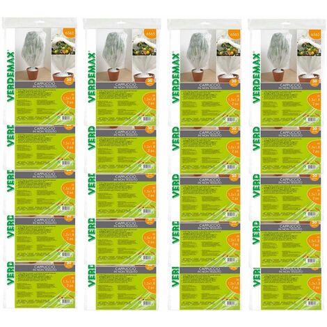 Verdemax 20 pezzi velo cappuccio di protezione in tnt 30 gr/mq bianco ciascuno metri 1,5x8