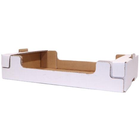 Cassetta in cartone plaform colore bianco multiuso per ortofrutta per agricoltura *** dimensioni 30x50x9,5 cm - confezione 16