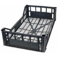 Cassetta multiuso per ortofrutta per agricoltura forata in plastica nera *** dimensioni 300 gr 30x50x12 cm - confezione 12
