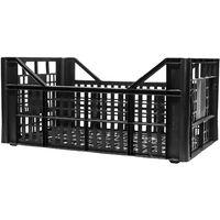 Cassetta multiuso per ortofrutta per agricoltura forata in plastica nera *** dimensioni 560 gr 30x50x22 cm - confezione 10