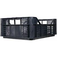 Cassetta multiuso per ortofrutta per agricoltura forata in plastica nera *** dimensioni 385 gr 30x40x13,5 cm - confezione 12