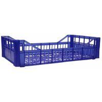 Cassetta multiuso per ortofrutta per agricoltura forata in plastica blu *** dimensioni 268 gr 30x50x12 cm - confezione 12