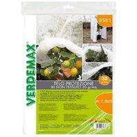 Verdemax 60 pezzi velo telo di protezione in tnt 30 gr/mq bianco ciascuno metri 1,6x5