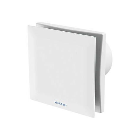 Vent Axia Silent VASF100HTC 7.5W Extractor Fan With Humidistat & Timer and Continuous Running White 240V - 479089