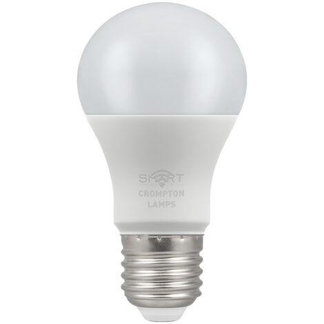 Crompton Lamps LED Smart GLS 8.5W Dimmable RGBW 3000K ES-E27 - CROM12332