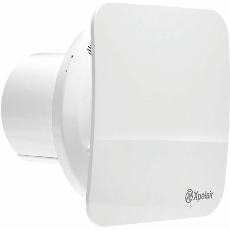 """Xpelair C4TSR 7W 4""""/100mm Bathroom Extractor Fan Combined With Square / Round Baffle-Front With Timer - 078346"""