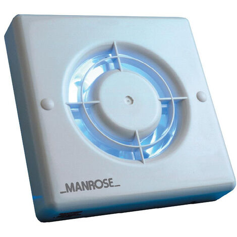 Manrose QF100P 4.8W Quiet Axial Bathroom Extractor Fan with Pullcord Switch