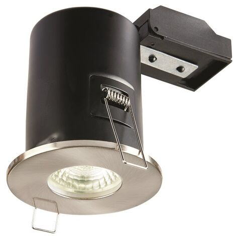 Collingwood Fixed IP65 Fire-Rated PAR16 LED GU10 Downlight Brushed Steel - CWFRC005