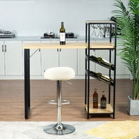 Tavolo da bar con 2 rastrelliere per il vino per la cucina, sala da pranzo