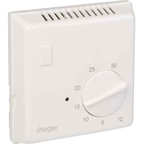 Thermostat d'ambiance Classe II - Bi-métal Hager