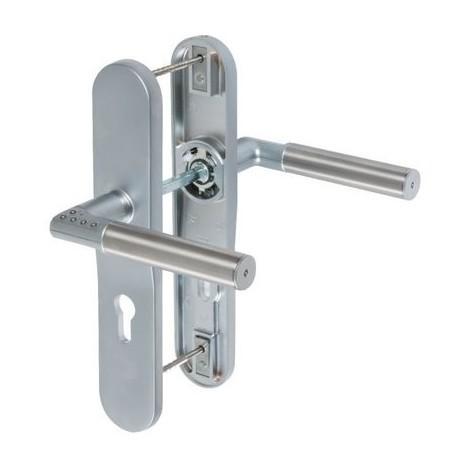Ensemble béquille double sur plaque inox CODE-IT Mul-T-Lock Sens Gauche
