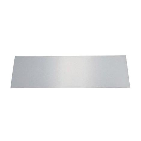 Plinthe de bas de porte Plate Inox brillant Duval Longueur 730 mm