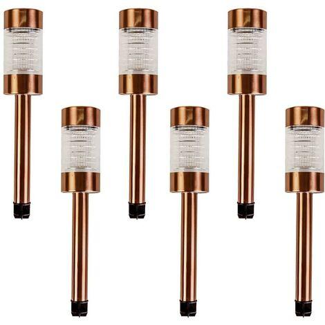 6PK Solar Bronze Post Light