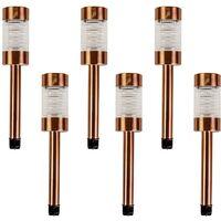 6PK Solar Bronze Post Lights