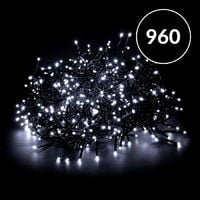 960 LED White Cluster Lights Suitable For Indoor and Outdoor use with 8 Sequence Light Choices