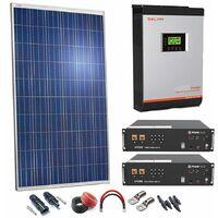 Kit Solar 24v 2970w Inversor Híbrido con batería de Litio con 3Kw 24V VHM MPPT 80A