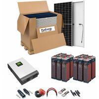 Kit Solar 48v 6000w Inversor Híbrido, 5Kw Mppt 80A, 12Opzs 18000Ah